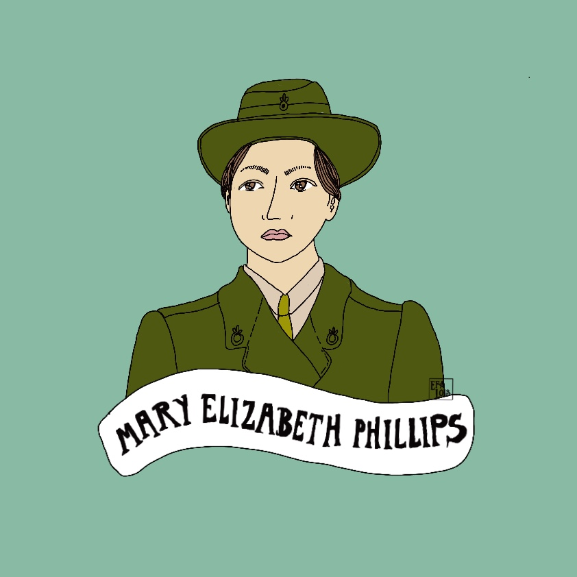 Illustration of Mary Elizabeth Phillips